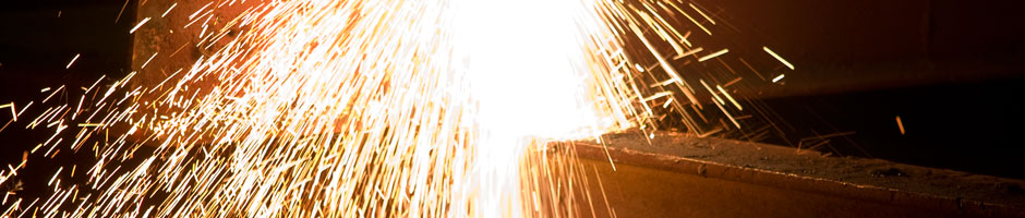 shower of welding sparks